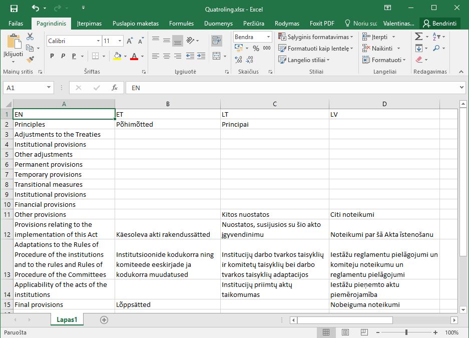 Excel be vargo