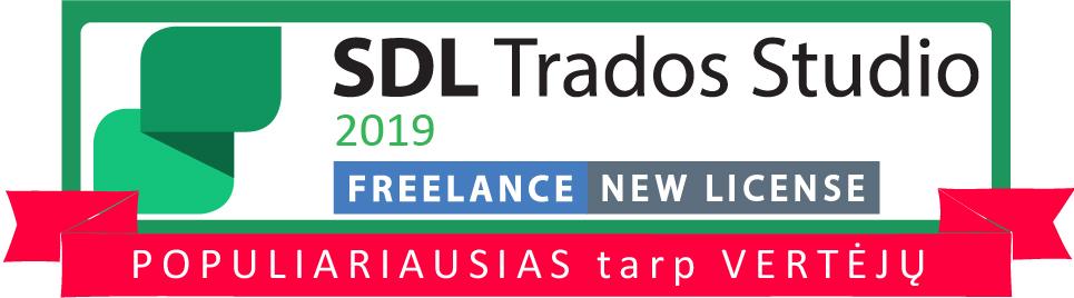 SDL Trados Studio 2019 freelance new license populiariausia versija tarp vertėjų cattool cattool.eu lietuva lithuania
