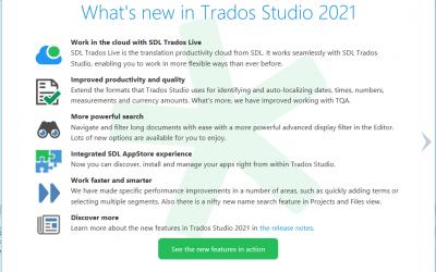SDL Trados 2021 – Kas naujesnio, vertimo programų lyderi?